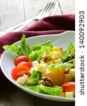 snack salad with cheese and... | Shutterstock . vector #140092903