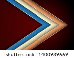 polygonal arrow with gold... | Shutterstock .eps vector #1400939669