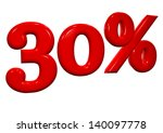 30 percent in red letters on a... | Shutterstock . vector #140097778