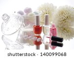 manicure set and white dahlia... | Shutterstock . vector #140099068