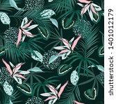 trendy seamless pattern vector...   Shutterstock .eps vector #1401012179
