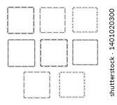 set of  vintage frames on a... | Shutterstock . vector #1401020300