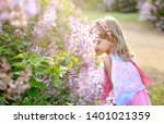 a child with butterfly wings... | Shutterstock . vector #1401021359