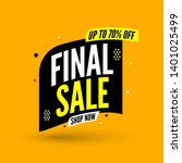 black and yellow final sale... | Shutterstock .eps vector #1401025499