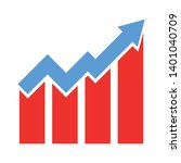 growth chart vector icon.... | Shutterstock .eps vector #1401040709