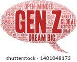 gen z word cloud on a white... | Shutterstock .eps vector #1401048173