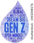 gen z word cloud on a white... | Shutterstock .eps vector #1401048176