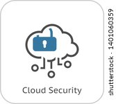simple cloud security vector...
