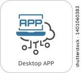 simple desktop app vector line...