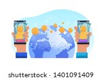 sending world remit. technology ... | Shutterstock .eps vector #1401091409