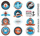 seafood symbols 02   Shutterstock .eps vector #140109400