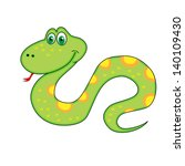 new year's  symbol of snake... | Shutterstock .eps vector #140109430