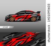 racing car wrap design vector.... | Shutterstock .eps vector #1401095603