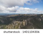 an aerial view of a  mountain... | Shutterstock . vector #1401104306