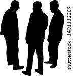 three men making chat ... | Shutterstock .eps vector #1401112289