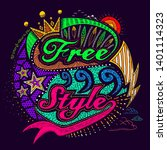 free style colorful typo print... | Shutterstock .eps vector #1401114323