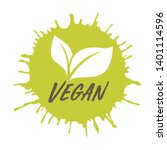 vegan icon.ink with stamp... | Shutterstock .eps vector #1401114596