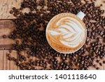 latte short from avobe with... | Shutterstock . vector #1401118640