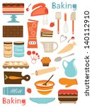 colorful baking icons... | Shutterstock .eps vector #140112910