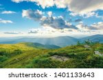summer sunset in mountains.... | Shutterstock . vector #1401133643