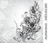 floral ornament. flower curls... | Shutterstock .eps vector #1401161183