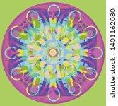 vector seeds mandala flower ... | Shutterstock .eps vector #1401162080