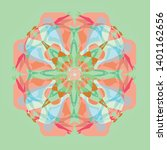 vector vintage flower mandala... | Shutterstock .eps vector #1401162656