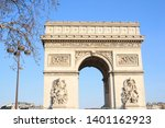 triumphal arch  one of the most ... | Shutterstock . vector #1401162923