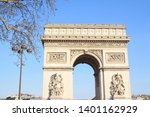 triumphal arch  one of the most ... | Shutterstock . vector #1401162929