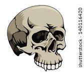 skull  vector illustration   Shutterstock .eps vector #140116420