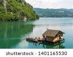Houseboat  Housing On Raft  In...
