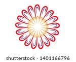 flower pattern for centerpieces ... | Shutterstock .eps vector #1401166796