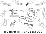 hairdressing salon. barbershop... | Shutterstock .eps vector #1401168086