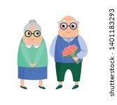 lovely senior couple  old man... | Shutterstock .eps vector #1401183293
