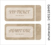 vintage paper tickets with... | Shutterstock .eps vector #140118490