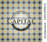 capital arabesque style badge.... | Shutterstock .eps vector #1401199013