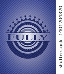 fully badge with denim texture. ... | Shutterstock .eps vector #1401204320