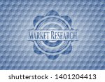 market research blue badge with ... | Shutterstock .eps vector #1401204413