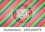 book icon inside christmas...   Shutterstock .eps vector #1401204479