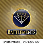 gold badge or emblem with... | Shutterstock .eps vector #1401209429