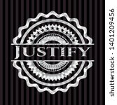 justify silvery badge or emblem.... | Shutterstock .eps vector #1401209456