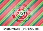 trustee christmas badge. vector ...   Shutterstock .eps vector #1401209483
