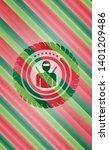 ninja icon inside christmas...   Shutterstock .eps vector #1401209486