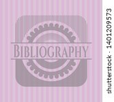 bibliography badge with pink... | Shutterstock .eps vector #1401209573