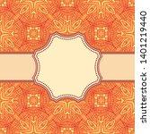 vintage vector abstract flower... | Shutterstock .eps vector #1401219440