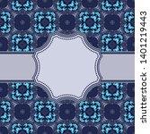 vintage vector abstract flower... | Shutterstock .eps vector #1401219443
