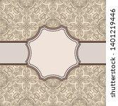 vintage vector abstract flower... | Shutterstock .eps vector #1401219446