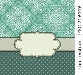 vintage vector abstract flower... | Shutterstock .eps vector #1401219449