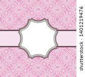 vintage vector abstract flower... | Shutterstock .eps vector #1401219476