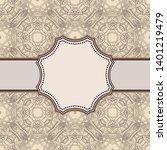 vintage vector abstract flower... | Shutterstock .eps vector #1401219479